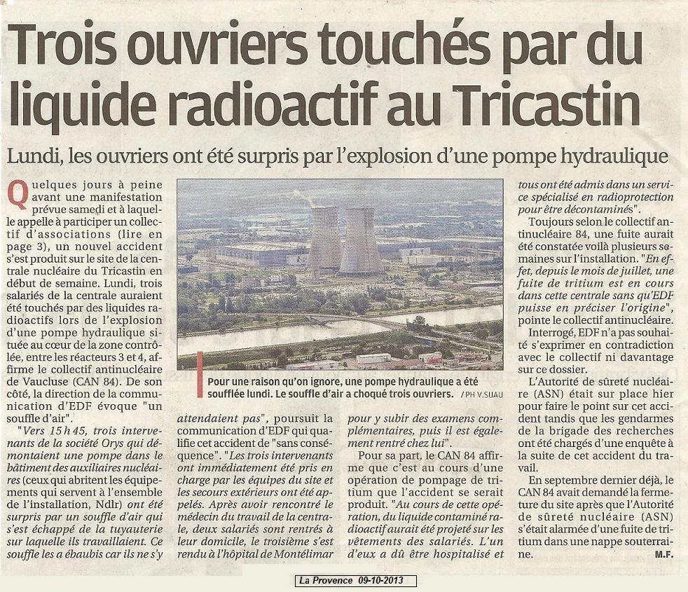 Tricastin fuite radioactive dating